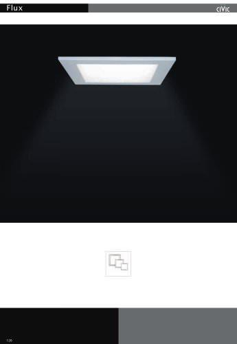 Recessed fluorescent luminaire FLUX