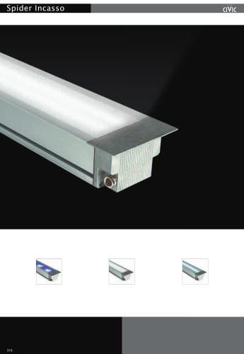 Recessed luminaire floor light SPIDER INCASSO