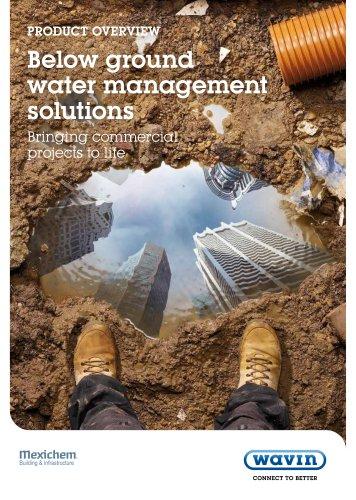 Wavin Below Ground Water Managemen