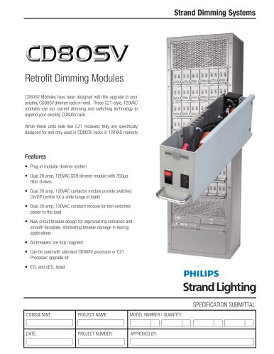 CD80SV Retrofit Dimming Modules