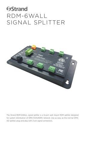 RDM-6WALL SIGNAL SPLITTER