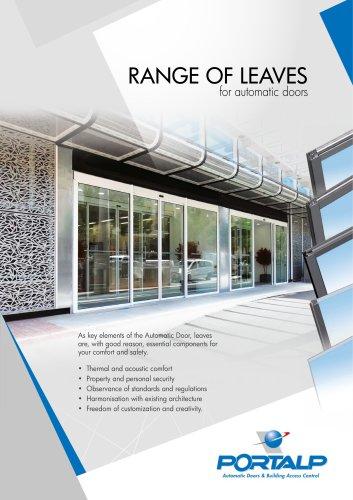 PORTALP - Range of leaves for automatic doors