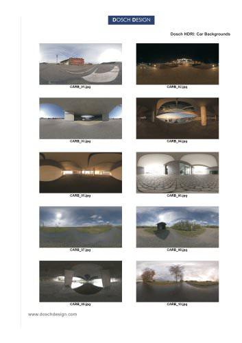 DOSCH HDRI: Car Backgrounds