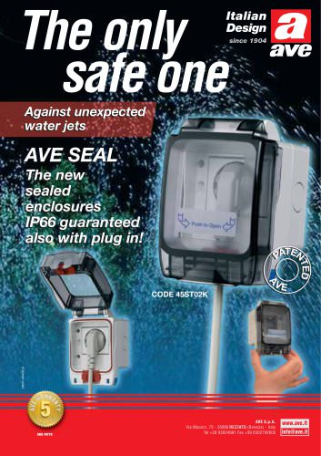 AVE SEAL IP66 guaranteed also with plug in