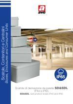 SD&SDL wall junction boxes IP44 and IP65