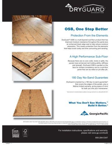 Oriented Strand Board:DryGuard Enhanced OSB FSC
