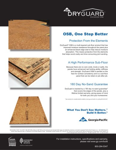 Oriented Strand Board:DryGuard Enhanced OSB SFI