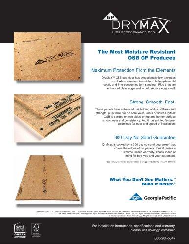 Oriented Strand Board:DryMax High-Performance OSB FSC
