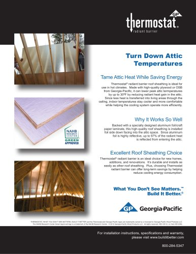 Oriented Strand Board:Thermostat OSB Radiant Barrier Sheathing