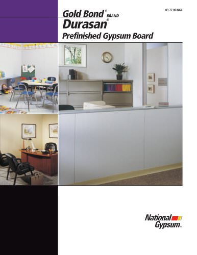 Durasan Prefinished Gypsum Board