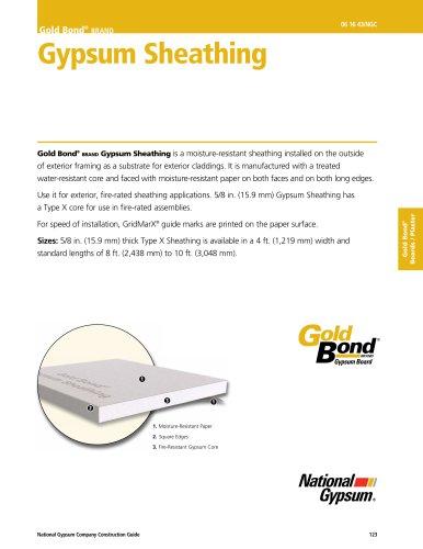 Gold Bond® brand Gypsum Sheathing