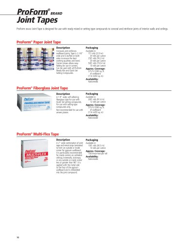 ProForm® BRAND Joint Tapes