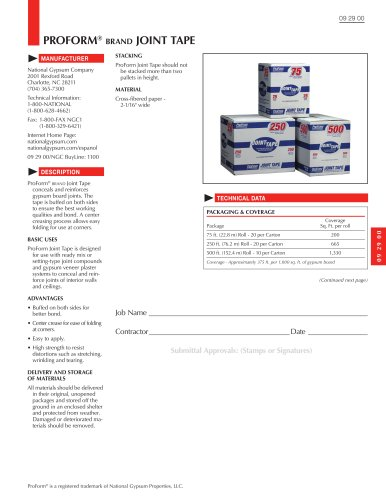 ProForm Paper Joint Tape