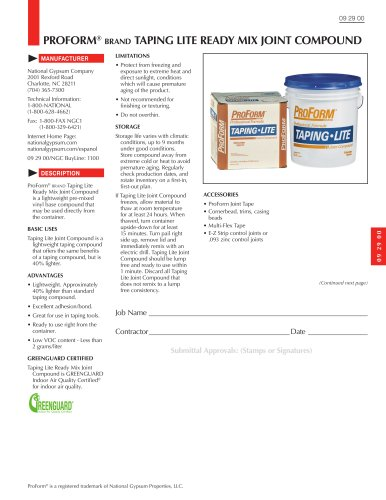 ProForm Taping Lite Ready Mix Joint Compound