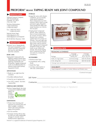 ProForm Taping Ready Mix Joint Compound