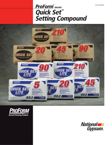 Quick SetTM Setting Compound