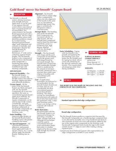 Sta-Smooth Gypsum Board
