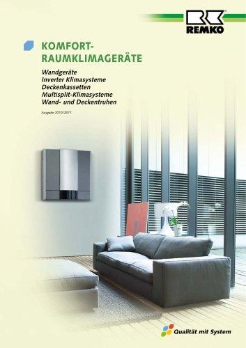 Komfort-Raumklimageräte 2010-11