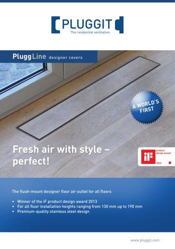 PluggLine designer covers