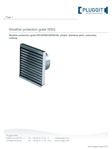 Weather protection grate WSG