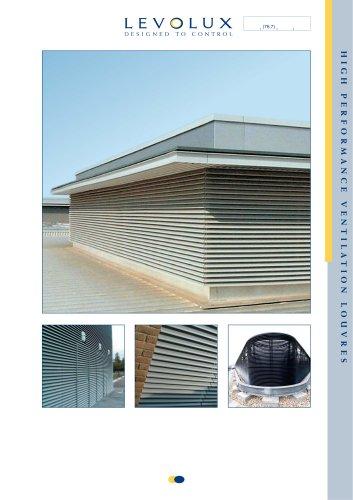 High performance ventilation louvres