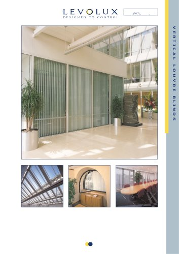 Vertical louvres blinds