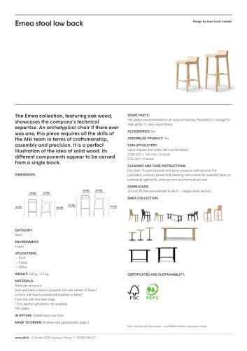Emea stool low back