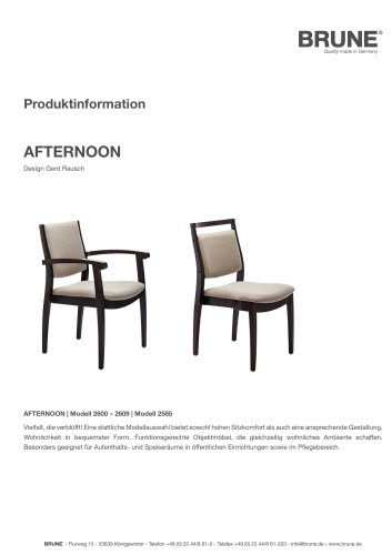 AFTERNOON Modell 2600-2609