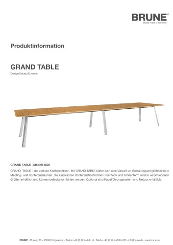 GRAND TABLE Modell 4520