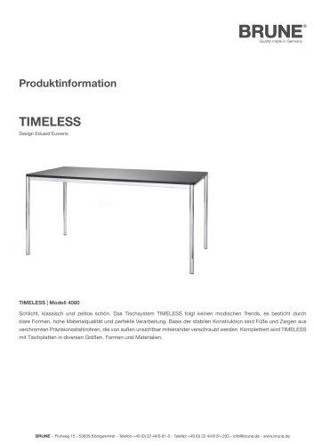 TIMELESS Modell 4080