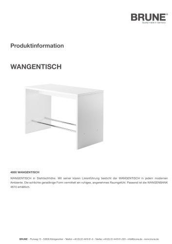 WANGENTISCH Modell 4600