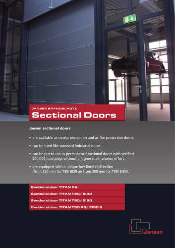 Sectionnal doors Fire protection