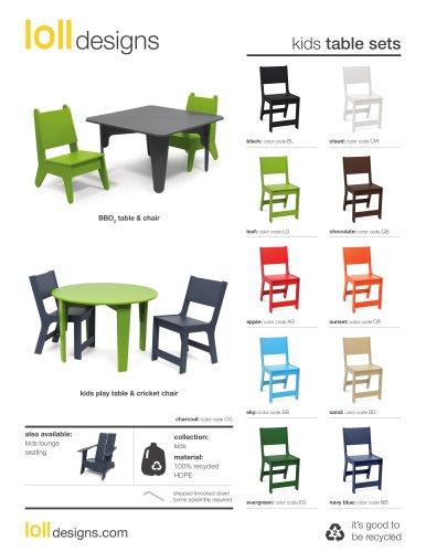 kids table sets