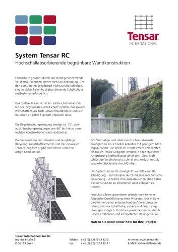 Flyer TensarTech RC-hochschallabsorbierende begrünbare Wand