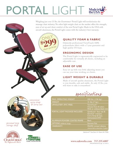 Portal Light Massage Chair Flyer