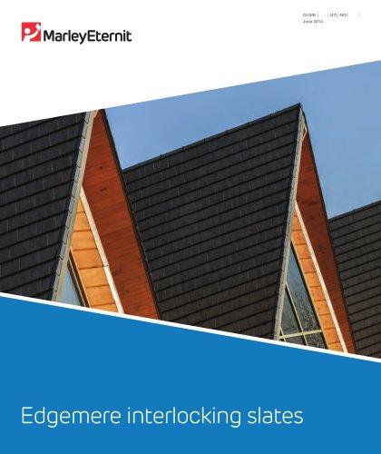 Edgemere interlocking slates