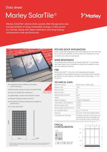 Marley SolarTile® Data sheet