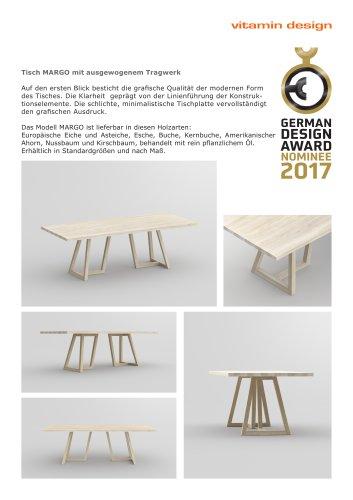 MARGO German Design Award 2016