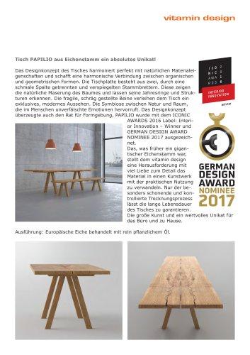 PAPILIO German Design Award 2016