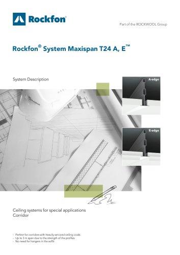 Rockfon® System Maxispan T24 A, E™