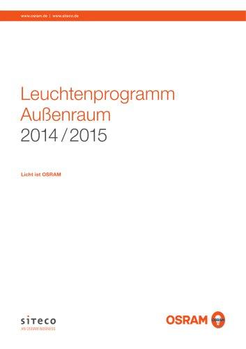 Leuchtenprogramm Außenraum 2014 / 2015