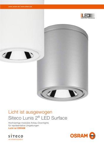 Licht ist ausgewogen Siteco Lunis 2 LED Surface