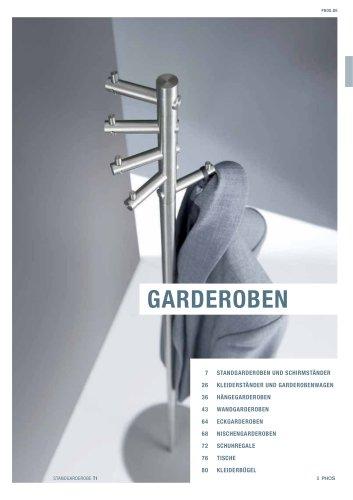 Garderoben Edelstahl-Design