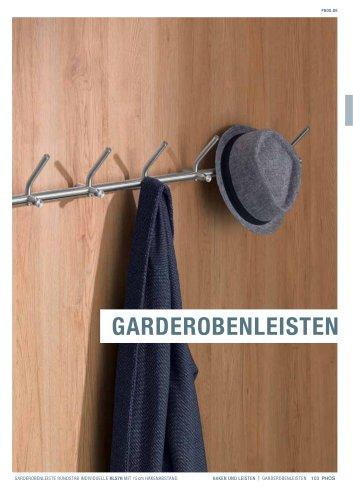 Garderobenleisten Edelstahl-Design