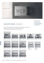 Türschilder + Hinweisschilder Edelstahl-Design - 10