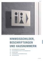 Türschilder + Hinweisschilder Edelstahl-Design - 1
