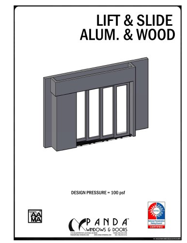 Lift & Slide alum. & wood