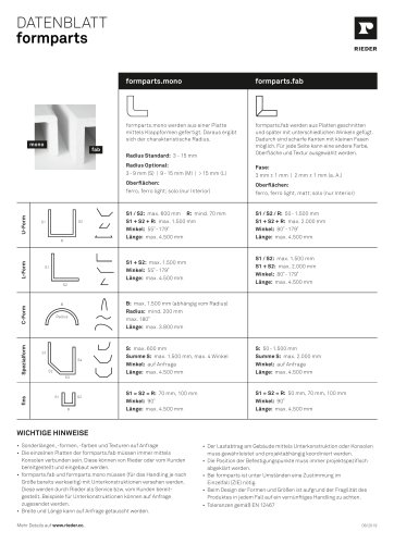 formparts Datenblatt