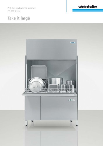 Pot, tin and utensil washers GS 600 Series