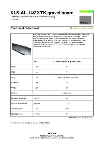 KLS-AL-14/22-TK gravel board